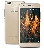 Blackview A7 Pro - 5.0 Pouces IPS 4G Android 7.0 Smartphone Caméras triples (5MP + 0.3MP + 8MP), 1.3GHz Quad Core 2 Go de RAM 16 Go, Dual SIM Bluetooth Empreinte Digitale Batterie 2800mAh - Or