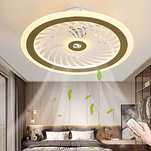 YUnZhonghe Luz de techo de ventilador LED 58W Ventilador de techo regulable con control remoto Ventilador silencioso Colgante Dormitorio Luz Lampen Sala de estar Oficina de Kindergarten Oficina Habita
