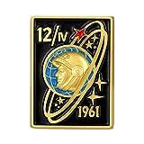 Photo de JXS Collection de Badge Militaire soviétique, Soviet-American Guerre Froide Gagarine Badge commémoratif réplique, Badge de cuivre, 4 Morceaux de Collection de Fans Militaires