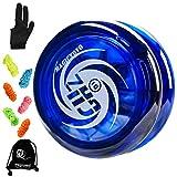 YOSTAR MAGICYOYO D1 Looping Yoyo para niños GHz, Yoyo Receptivo para Principiantes, Fácil de Jugar y Practicar Trucos básicos de Bucle, con 6 Cuerdas Yoyo, Guante Yo-Yo, Bolsa Yo Yo (Azul)