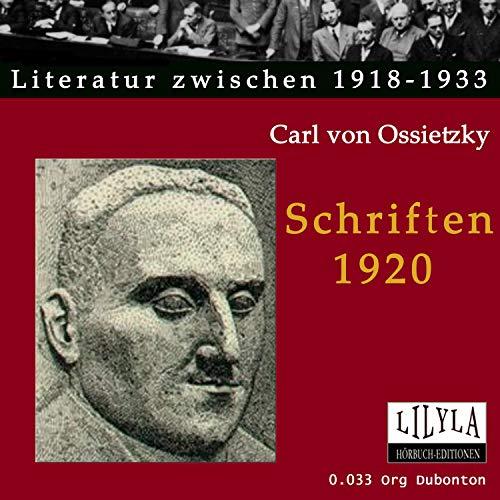 Schriften 1920 Titelbild