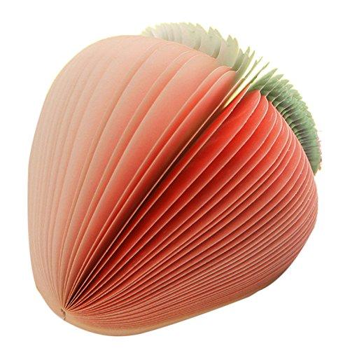 Plus Nao(プラスナオ) メモ帳 かわいい 面白い フルーツメモ帳 文具 文房具 ノート 約150枚 なし リンゴ スイカ キウイ 本物みたい イチゴ - イチゴ