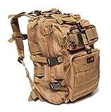 24BattlePack Tactical Backpack 1-3 Day Assault Pack | 40L Bug Out Bag (Tan)