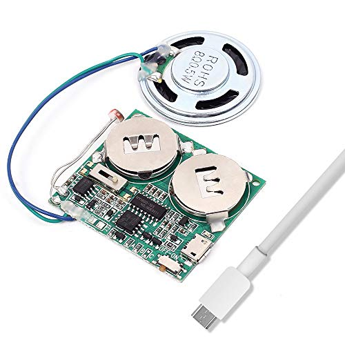 Icstation DIY Light Sensor Sound Module Micro USB Music Player for Talking Greeting Card Creative Gifts 8M Memory w/Speaker