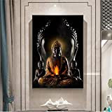 KWzEQ Pintura sin Marco Buda Dios Arte de la Pared Pintura de la Lona Buda Moderno Lienzo Estatua de Buda Cartel Decoración de la salaAY6809 60X90cm