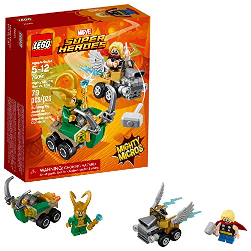 LEGO Marvel Super Heroes Mighty Micros: Thor vs. Loki 76091 Kit de construcción (79 Piezas)