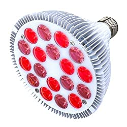 Honpal Infrared Light Therapy Device,660nm Red and 850nm Near Infrared Combo Red Light Bulb,36W 18 LED Red Light Therapy Lamp for Skin, Pain Relief and Anti Aging.