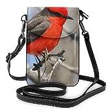AOOEDM Rare Bird Fashion Pequeño monedero para teléfono celular Bolso de hombro multiusos Cartera