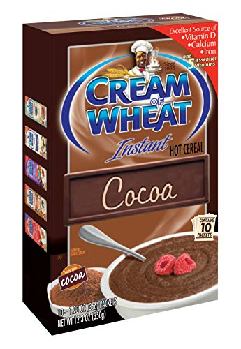 Cream of Wheat Instant Hot Cereal, Cocoa, 1.23 Oz, 10 Packets (Pack Of 12)