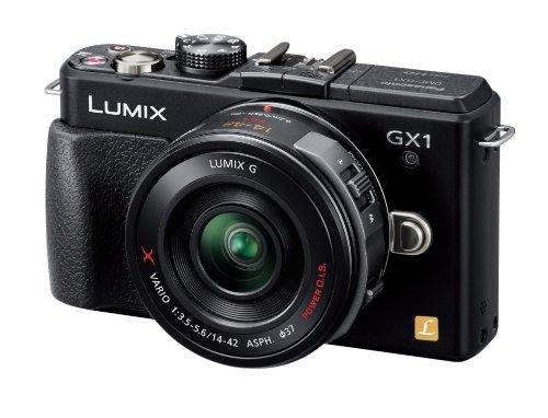 パナソニック ミラーレス一眼カメラ ルミックス GX1 レンズキット 電動ズームレンズ付属 エスプリブラック DMC-GX1X-K