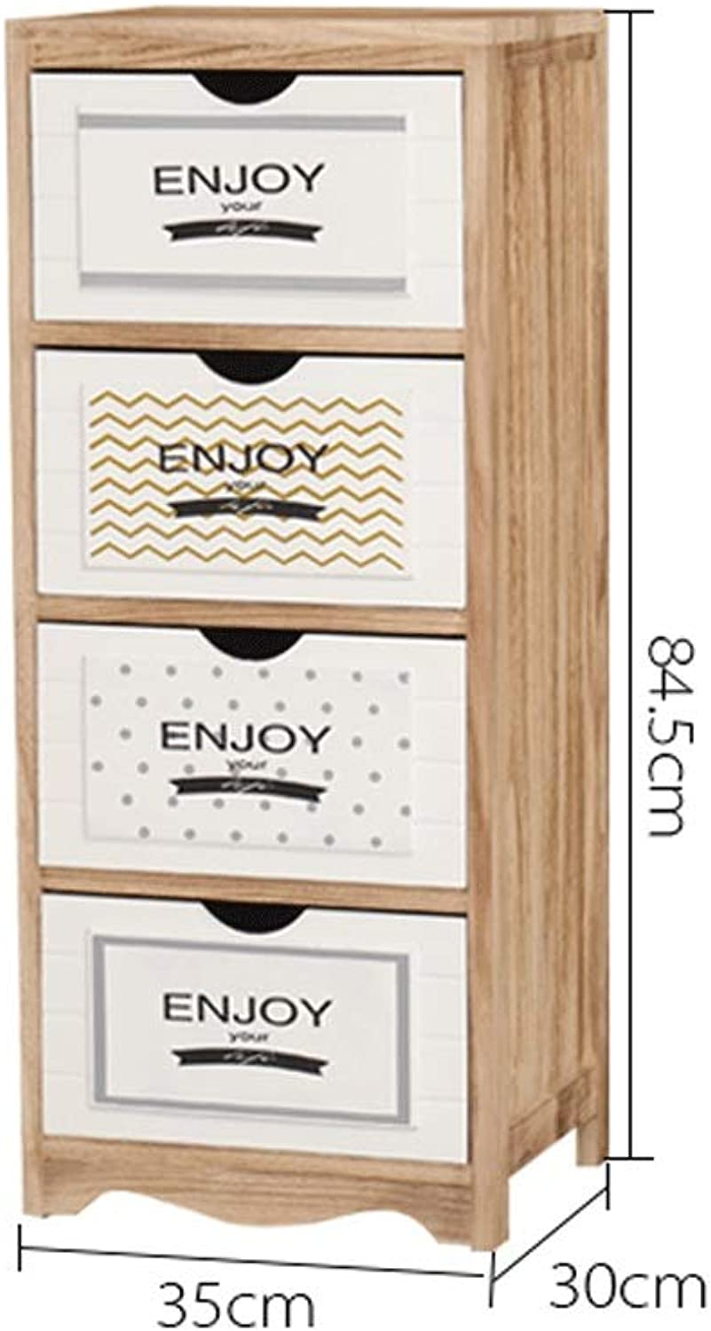 Solid Wood Drawer Type Storage Box Bedroom Multi-Layer Finishing Cabinet Storage (color   C)
