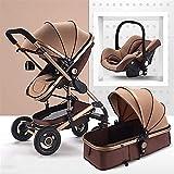 YZPTD Carruaje de bebé Compacto multifunción, Cochecito Plegable, Marco de aleación de Aluminio, implementación bidireccional, Carro de bebé con Titular de la Taza (Color : Rojo)