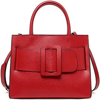 Fashion Leather Ladies Handbag/Bark Diagonal Shoulder Bag/Outdoor Rational Business Backpack (Color : Red)