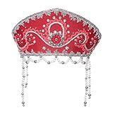 """Costume folclore russo tradizionale - Copricapo Kokoshnik""""Alina"""" rosso #634"""
