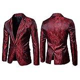 Loeay Moda Caliente con Estilo para Hombre Casual Slim Fit Formal con un botón Traje Blazer Coat Jacket Tops Red XXL