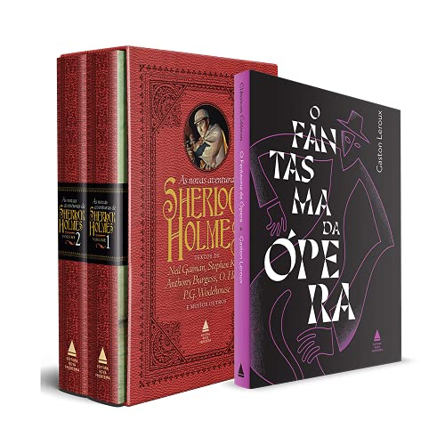 Kit Box Novas Aventuras de Sherlock + O Fantasma da Ópera