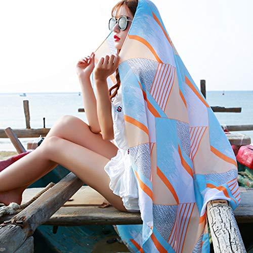 YXCKG Frauen Sexy Böhmischen Blumenstrand Vertuschen Sarong Wickel Badeanzug Beachwear, Strandkleid Damen, Pareos, Sarong Strandtuch Mit Schnalle - Sommer Casual Bluse Swimwear Cardigan (Color : J)