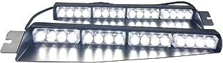 Bullshark 32LED 32W Visor Light Hazard Emergency Traffic Advisor Strobe PoliceWarning Windshield Strobe Lightbar(White)
