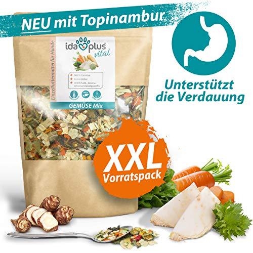 Ida Plus – Gemüse Mix 1000g XXL Packung – Barf Gemüse für Hunde – Getreidefrei & ohne künstliche Zusätze – 100% natürlich – mit Vitaminen und Mineralien - ausgewogene Rohfütterung – Barf Zusatz