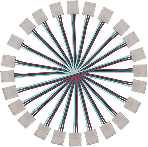 BTF-LIGHTING 3ピンコネクター 10個10mm幅のデュアルエンド 15cm延長用ケーブルコネクター LEDテープライト 柔軟なWS2812B WS2811 SK6812ストリップ簡単接続 半田不要 DIYできなアダプター
