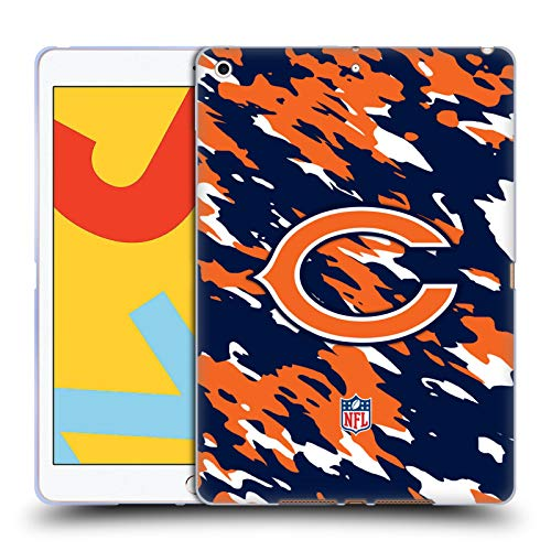 Official NFL Camou Chicago Bears Logo Soft Gel Case Compatible for Apple iPad 10.2 (2019)/(2020)