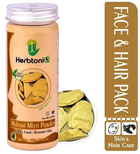 HerbtoniQ 100% Natural Multani Mitti Powder (Fuller's Earth/Calcium Bentonite Clay) For Face Pack And Hair Pack (Pack Of 1)
