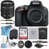 Nikon D5600 24.2MP DSLR Digital Camera with NIKKOR 18-55mm VR Lens + SanDisk 32GB Memory Card + Hi-Speed USB Card Reader + Starter kit + Accessory Bundle (16 pcs Bundle) (18-55mm+32GB)