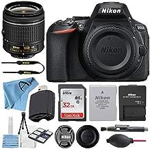 Nikon D5600 24.2MP DSLR Digital Camera with NIKKOR 18-55mm VR Lens + SanDisk 32GB Memory Card + Hi-Speed USB Card Reader + Starter kit + Accessory Bundle (16 pcs Bundle) (18-55mm+32GB)