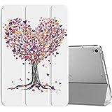 MoKo Funda para New iPad Air (3rd Generation) 10.5' 2019/iPad Pro 10.5 2017, Ultra Delgado Función de Soporte Protectora Plegable Cubierta Inteligente Trasera Transparente - árbol del Amor