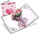 Deesospro® día de la Madre tarjeta,Tarjeta de cumpleaños para mamá especial, Tarjeta de felicitación pop-up 3D con hermoso papel cortado, el mejor regalo para el cumpleaños de mamá, sobre incluido