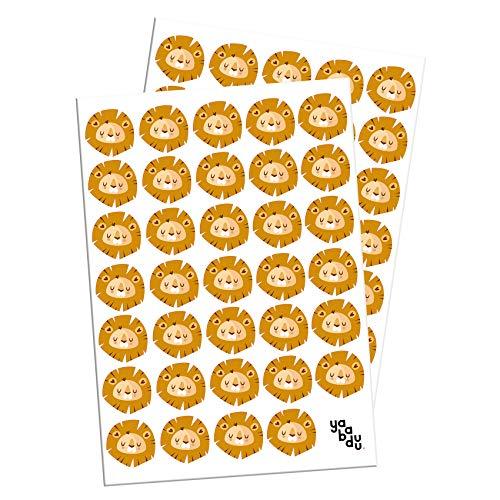 Leeuw-set muurtattoo stickers leeuw decor stickers voor kinderkamer babykamer zelfklevend jungle dier Afrika koning van dieren