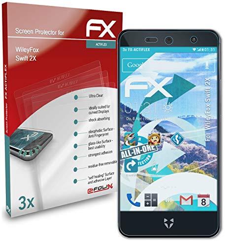 atFolix Schutzfolie kompatibel mit WileyFox Swift 2X Folie, ultraklare & Flexible FX Bildschirmschutzfolie (3X)