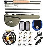 SPRINTON Maximumcatch Alltime Reiserute für Fliegenfischen 8 Teile 9ft Fliegenrute mit Cordura Rohr in 5/6/8 wt (9' 6wt Combo)
