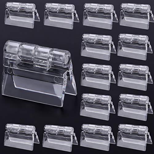 Bisagras Acrilicas,Senteen 40 Pcs Transparente Plastico Bisagra Bisagra Piano Adecuado para Cajas de Almacenamiento Vitrinas Muebles y Otros Productos Acrílicos