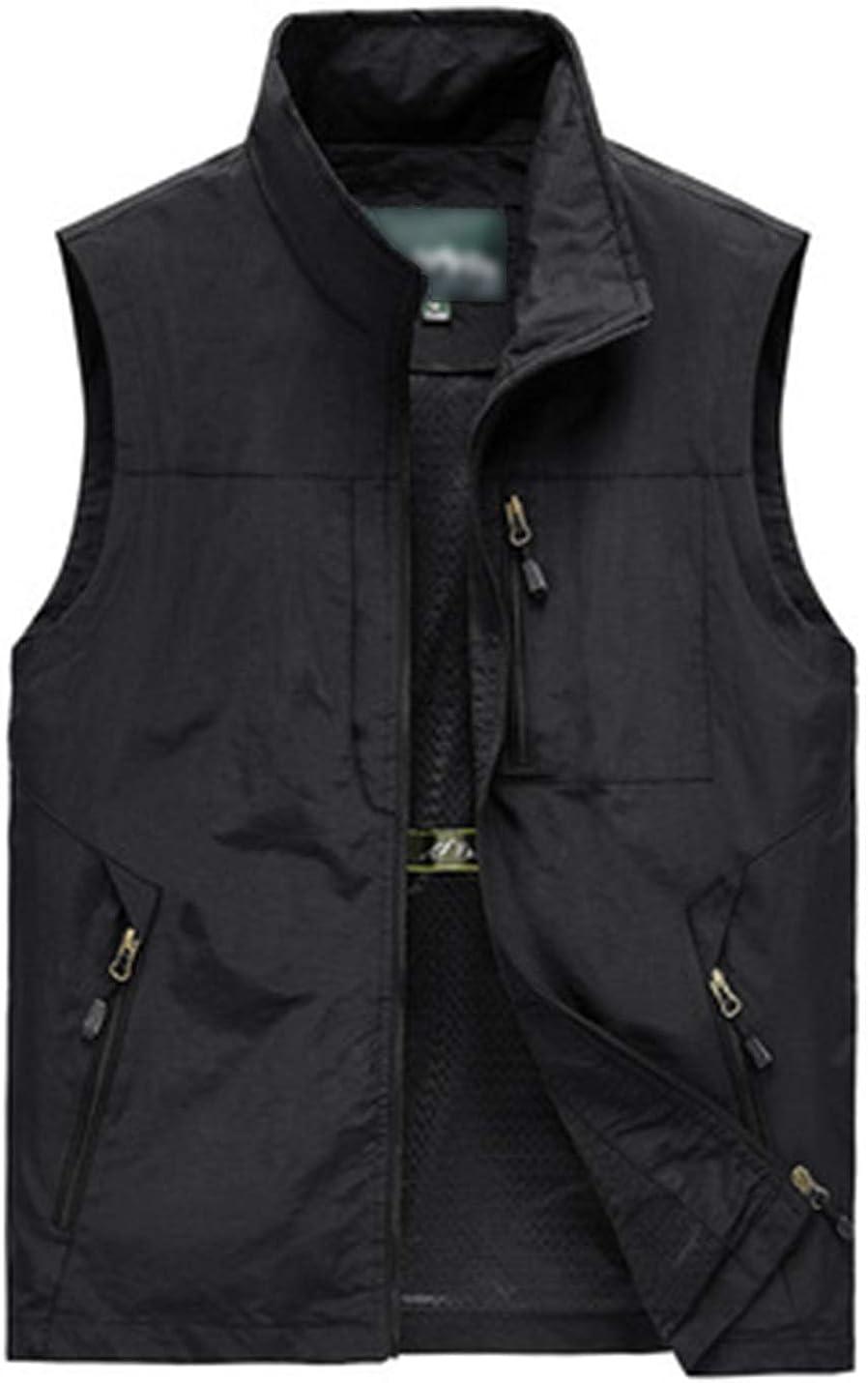PEHMEA Men's Outdoor Work Safari Fishing Travel Photography Vest with Pockets