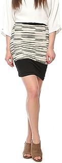 VVOGUISH Women's Kilt Crepe Mini Skirt