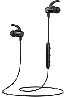 Anker Soundbuds Slim Wireless Headphones, Bluetooth 4.1 Lightweight Stereo Earbuds with Magnetic Connection, Nano Coating ...