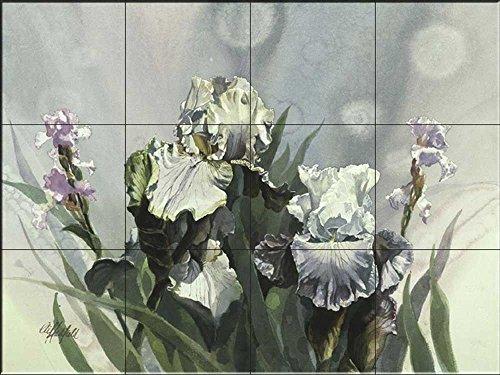 Fliesenwandbild - Iris III- von Clif Hadfield - Küche Aufkantung/Bad Dusche