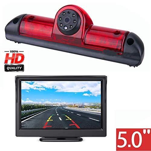 HD-Rückfahrkamera für Citroen Jumper III/FIAT Ducato X250/Citroen Relay Peugeot Boxer III, 3. Bremsleuchte Rückfahrkamera Kit mit 12,7 cm (5 Zoll) LCD-Monitor, wasserdicht, Nachtsicht, Rückfahrkamera