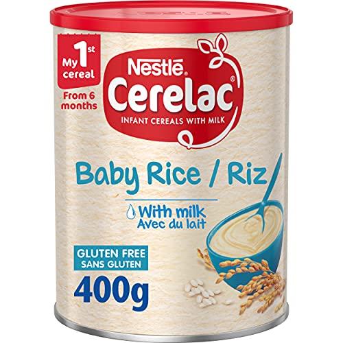 Nestlé Cerelac Rice with Milk Infant Cereal, 6 months plus, 400g