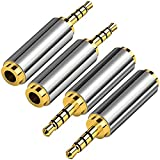 4 Pack 2.5mm Male to 3.5mm Female Audio...