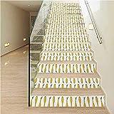 Pegatinas para escaleras, decoración del hogar, diseño retro abstracto grunge con cubos geométricos en el interior, para paredes de cocina, escaleras, decoración del hogar,, Color03, 7.08' x 43.3'