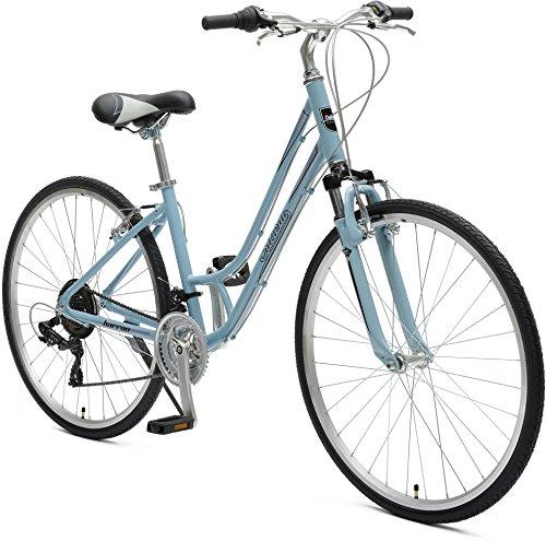 "Retrospec Critical Cycles Women's Barron Hybrid 21 Speed Bike, Powder Blue, 16""/Small"