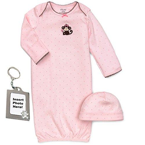 Little Me Preemie recién nacido niño niña unisex canastilla vestido de bebé gorro y Tether