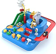 JIECAN Car Adventure Toy, Big Adventure Track Toy for Kids Toddlers, Parent-Child Interactive Racing Kids Toy, Puzzle Car Track Parking Playsets Gifts for 3 4 5 6 7 Year Old Boys Girls