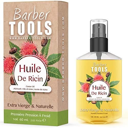 HUILE DE RICIN| 100% Pure, Naturelle & Pressée à Froid | Cils, Sourcils, Corps, Cheveux, Barbe, Ongles | Castor Oil , sans hexane, sans OGM (60ml)