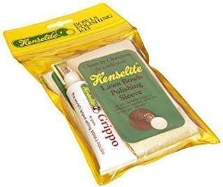 New Henselite Grippo Wax With Sleeve & Cloth Lawn Bowls Polishing Kit by Henselite