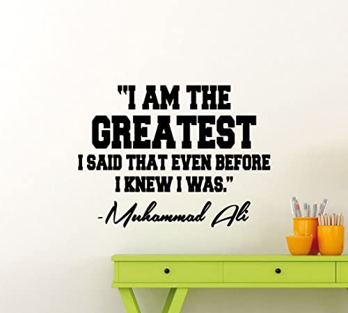 Muhammad Ali Quote Wall Decal I Am The Greatest Boxing Decor Boxer Poster Gym Vinyl Sticker product image
