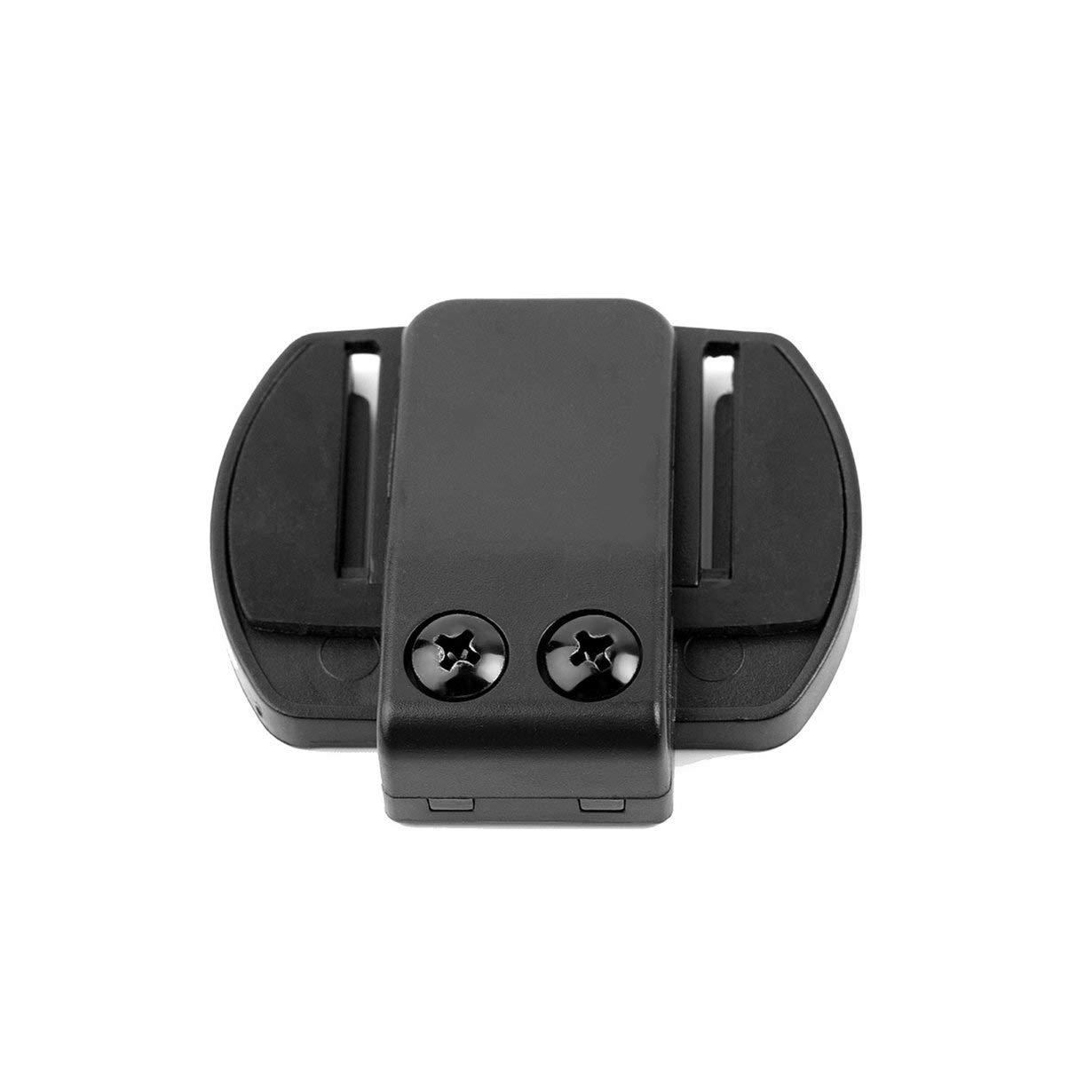 Clip Negro ANR Micr/ófono Altavoz Auricular V4 V6 Interphone Auricular Universal Casco Intercomunicador Clip para Dispositivo de Motocicleta