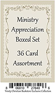 Ministry Appreciation ~ 36 Card Set ~ Religious Greeting Card Assortment w/ Scripture
